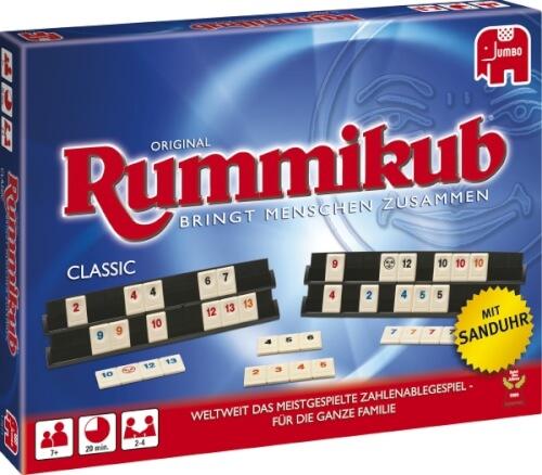 Jumbo 17571 - Original Rummikub Classic, für 2-4 Spieler, ab 7 Jahren