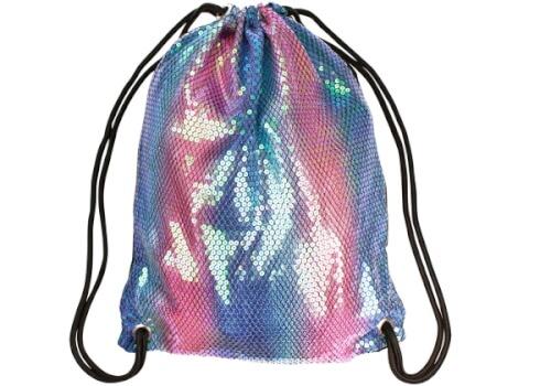 Trendhaus   946478 - Mermaid at Heart Freizeit-Bag, Farbverlauf Meerjungfrau, Turnbeutel aus Stoff, ca. 33,5x44cm. Für Kinder ab