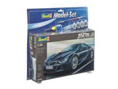 REVELL 67008 Modellbausatz BMW mit Basisfarben i8 1:24, ab 10 Jahre