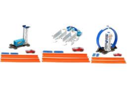 Mattel Hot Wheel Track Builder Basis-Set und Fahrzeug