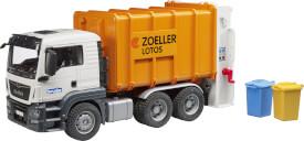 Bruder 03762 MAN TGS Müll-LKW Hecklader, ab 3 Jahren, Maße: 50,8 x 18,5 x 21,6 cm, Kunststoff & Plastik
