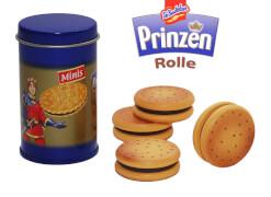 Prinzenrolle Dose gefüllt mit Keksen aus Holz