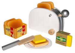 Golden Toast-Set aus Holz, mit Zubehör