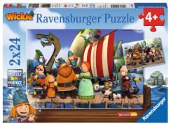 Ravensburger 90945 Puzzle Wickie und seine Freunde, 2x24 Teile
