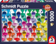 Schmidt Puzzle 58219 Farbeimer, 1000 Teile, ab 12 Jahre