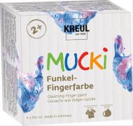 MUCKI Funkel-Fingerfarbe, 4er Set