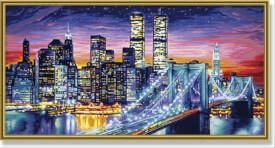 Schipper Malen nach Zahlen - Manhattan bei Nacht 40 x 80 cm