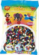 HAMA Bügelperlen Midi - Transparent Glitter 3000 Perlen