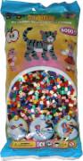 HAMA 205-67 Bügelperlen Midi - Vollton Mix 6000 Perlen, 22 Farben, ab 5 Jahren