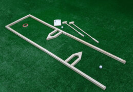 Minigolf Set, 18 Loch, 18 Bahnen zum Nachbauen