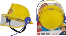 Simba Feuerwehrmann Sam - Feuerwehr-Helm inkl. Visier + Mikrofon, Kunststoff, # ca. 23 cm, ab 3 Jahre