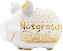 Sparschwein Notgroschen Gold-Edition