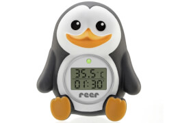 reer 24041 My Happy Pingu 2in1 digitales Badethermometer