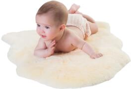 Baby Lammfell geschoren, größe 70-80 cm